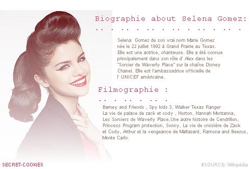 Biographie De Selena Gomez ♥