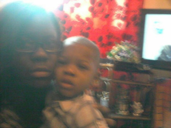 My son and me,I love you