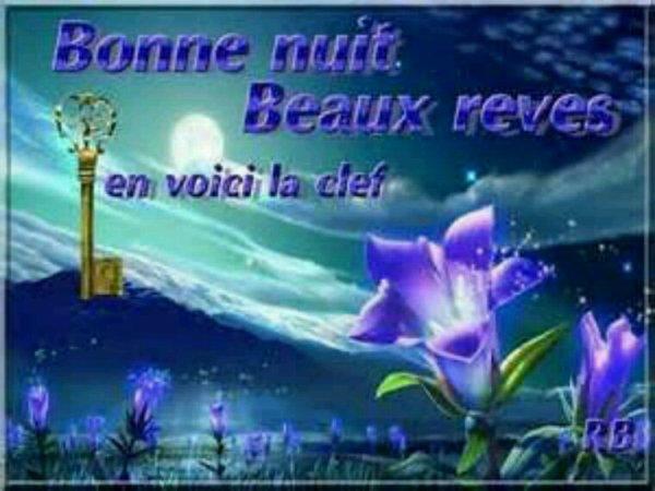 Bonne et douce nuit à mes amis