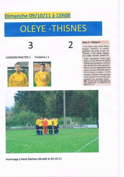 le 09/10/11 Oleye - Thisnes