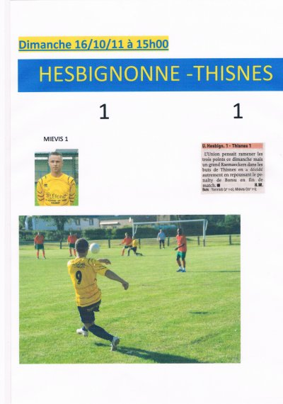 le 16/10/11 Hesbignonne - Thisnes