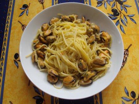 La fibromyalgie - Recettes : Spaghettis aux moules