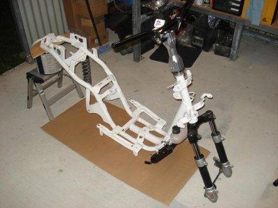 Project yamaha zuma cc with aerox engine conversion projet