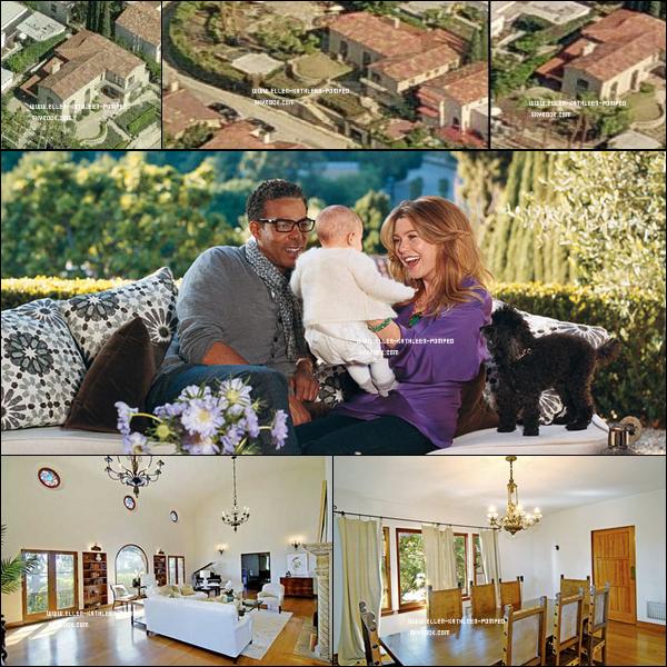 Découvrez en exclusivité la maison d'Ellen Pompeo,  son mari Chris Ivery et de leur fille Stella Luna à Los Angeles.