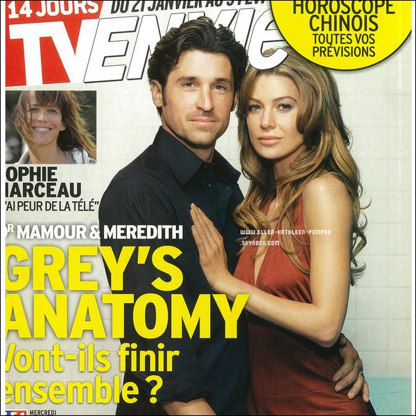 """Janvier - Février 2012 - Scan du magazine """"TV Envie """" et Spoilers de la saison 8 de Grey's Anatomy."""