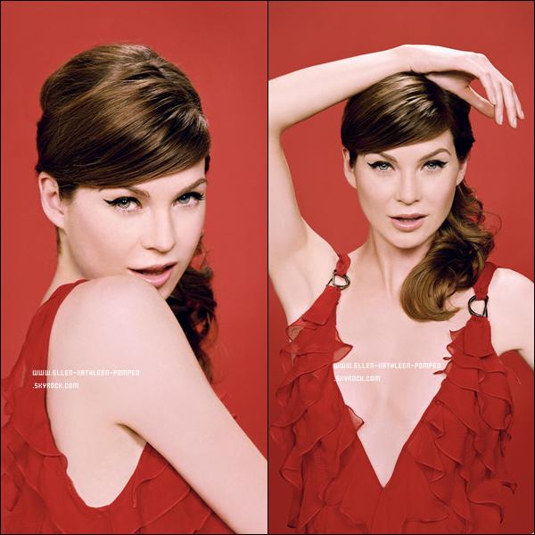 """Ellen Pompeo posant pour le magazine """"Playboy"""" en 2006."""