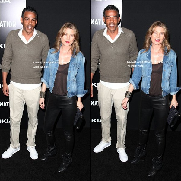 "Le 11 Février 2012 - Ellen et son mari Chris participant aux ""Roc Nation Pre-Grammy"" à Los Angeles."