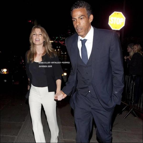 """Le 12 Février 2012 - Ellen et son mari Chris quittant  la soirée après les """"Grammy"""" à Los Angeles."""