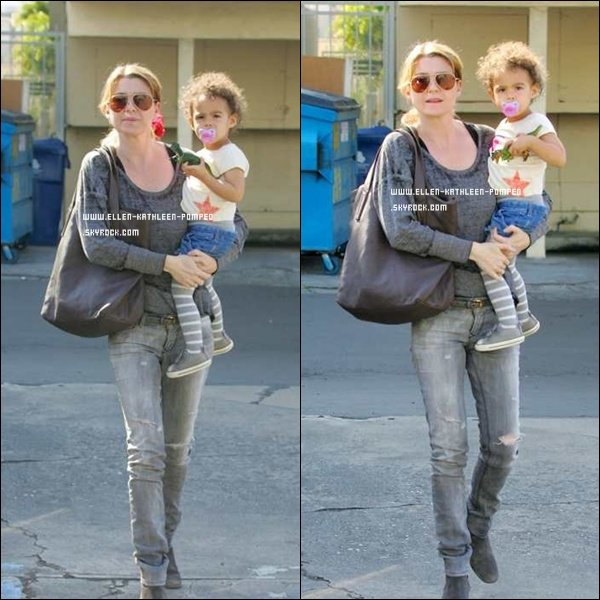 """Le 18 Février 2012 - Ellen et sa fille Stella ont été vues quittant le """"Joan's Cafe"""" après y avoir déjeuner."""