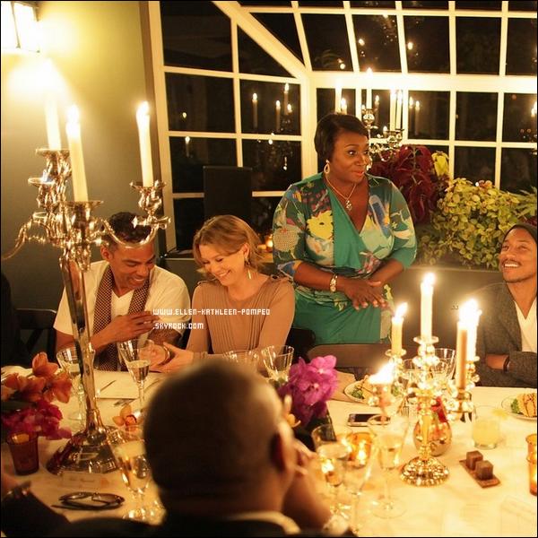 Le 21 Février 2012 - Nous retrouvons une magnifique Ellen et son mari Chris au diner qu'à donner le chanteur Pharell Williams au chateau Marmont, à Los Angeles.