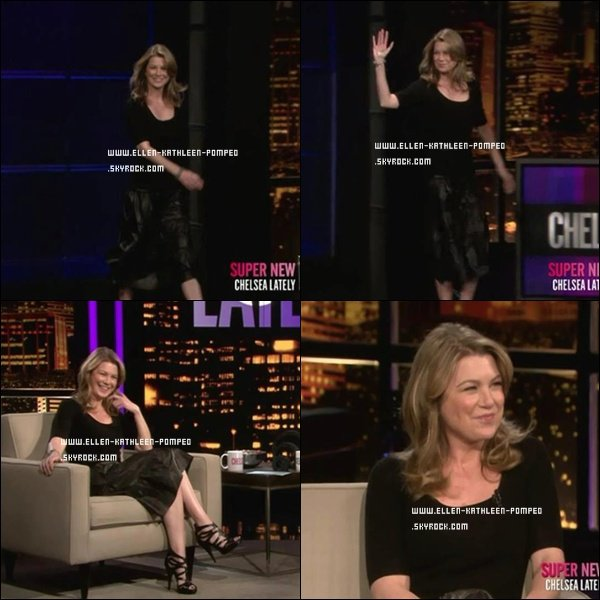 """Le 28 Février 2012 - Ellen était à l'émission de télévision """"Chelsea Lately""""."""