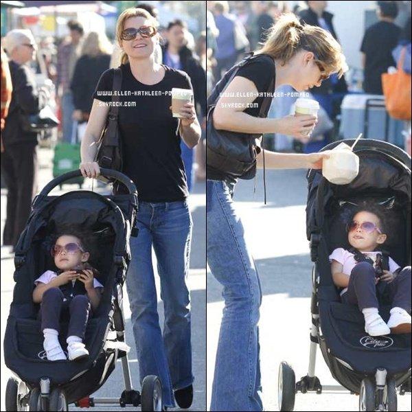 """Le 04 Mars 2012 - Ellen et sa fille Stella étaient au """"Farmer's Market"""" à Los Angeles."""