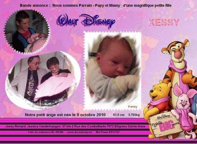 Annonce de la naissance de Kessy