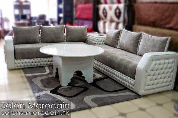 salon marocain moderne gris 2014 - Top Salons Morocain Decoration ...