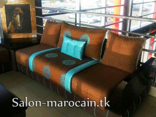 Salon Marocain Canapé Moderne Marron Top Salons Morocain - Salon marocain canape moderne