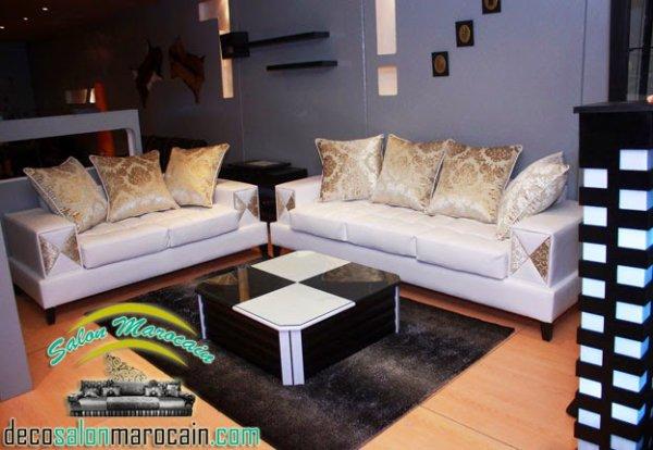 Salon marocain moderne bahae blanc - Top Salons Morocain ...