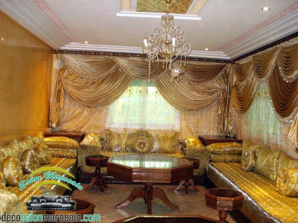 Salon marocain doré de luxe 2014 - Top Salons Morocain ...