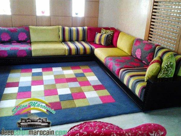 Salon marocain contemporain Multi coloris - Top Salons Morocain ...