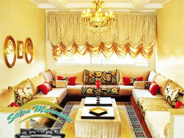 Salon marocain modele 2016 - Top Salons Morocain Decoration Moderne