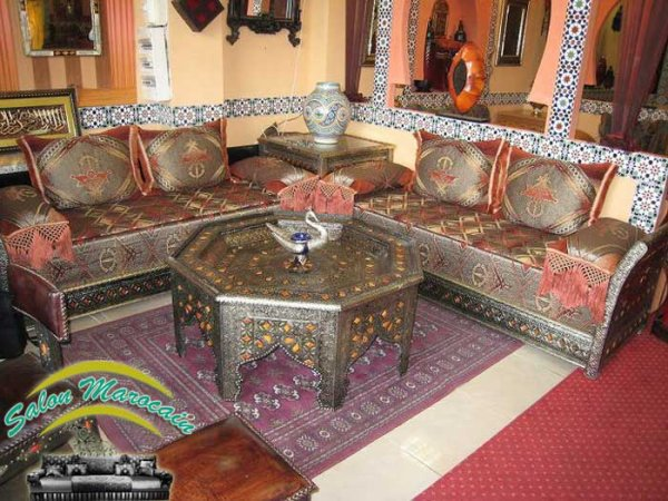 Salon marocain / salon marocain traditionnel luxueux - Top Salons ...