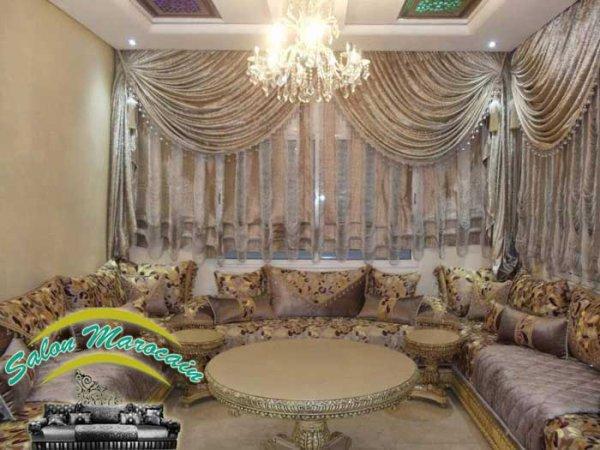 Salon Marocain Canape Tapis Et Autres Elements Du Salon