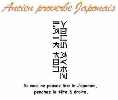 Ancien Proverbe Japonais
