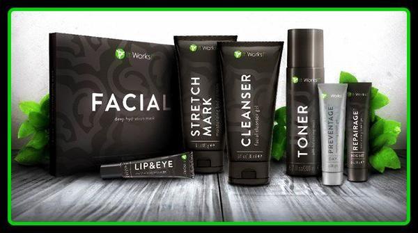 Toute la gamme It Works c'est aussi le Wrap visage et les crèmes It Works!
