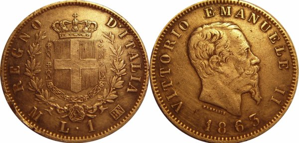 1 lire 1863