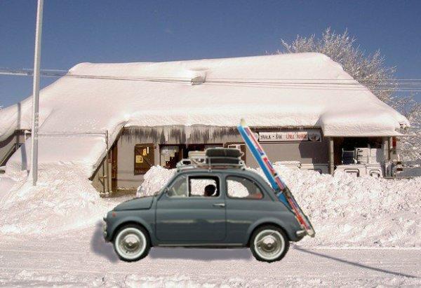 ma 5oo au ski ancienne fiat 500 de cl flo toulouse restaurat. Black Bedroom Furniture Sets. Home Design Ideas