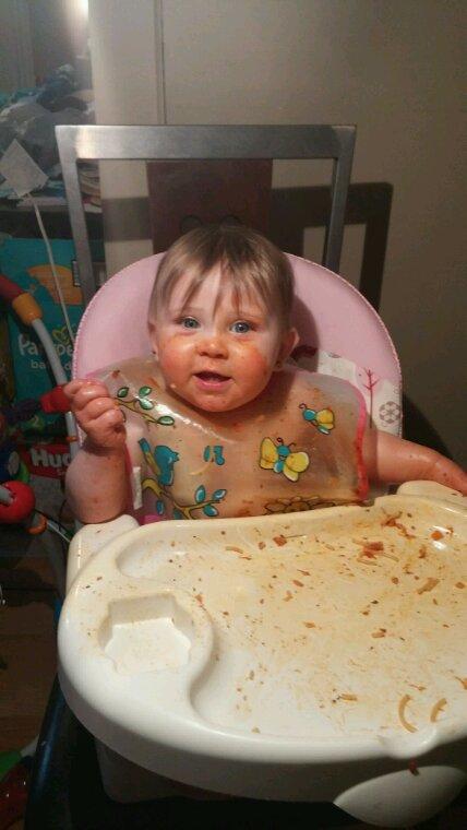 Premier fois avec du spaghetti