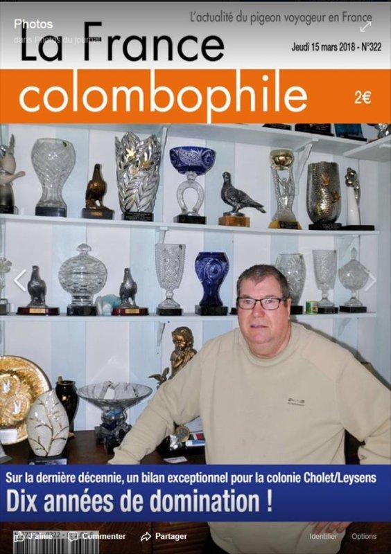 Bonne Lecture à vous et Merci à Benoit Cailliez Le journal,            'la France colombophile'