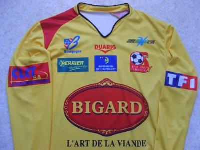 """Maillot """"domicile"""" porté par Yoann ZANONI à Louhans-Cuiseaux, en Championnat de France National, lors de la saison 2006/2007."""