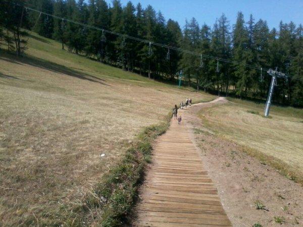 Paysage du parc de Valberg