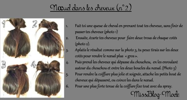 Tutoriel coiffure : N½ud dans les cheveux / N½ud lady gaga ( deuxième coiffure)