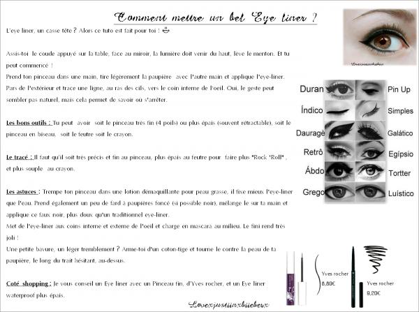 Conseil : Eye liner