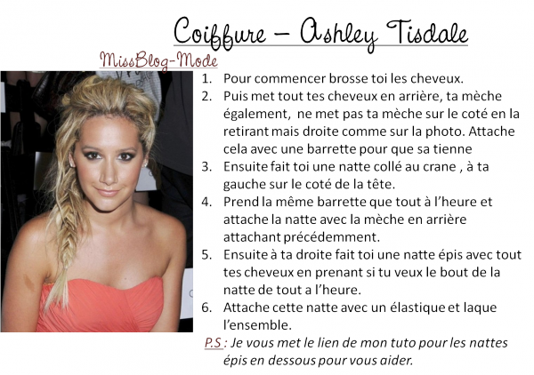 Coiffure - Ashley Tisdale