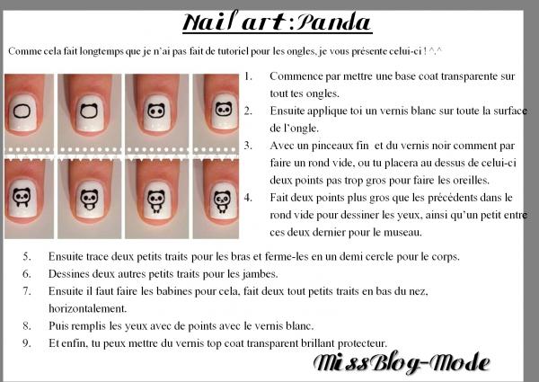 Tuto Nail art : Panda