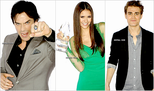 11/01 : Ian, Nina et Paul étaient aux People's Choice Awards 2012 à L.A. Comme vous le savez, Nina a eu un prix de la meilleure actrice de série dramatique. Mais Ian et Paul n'ont rien eu.