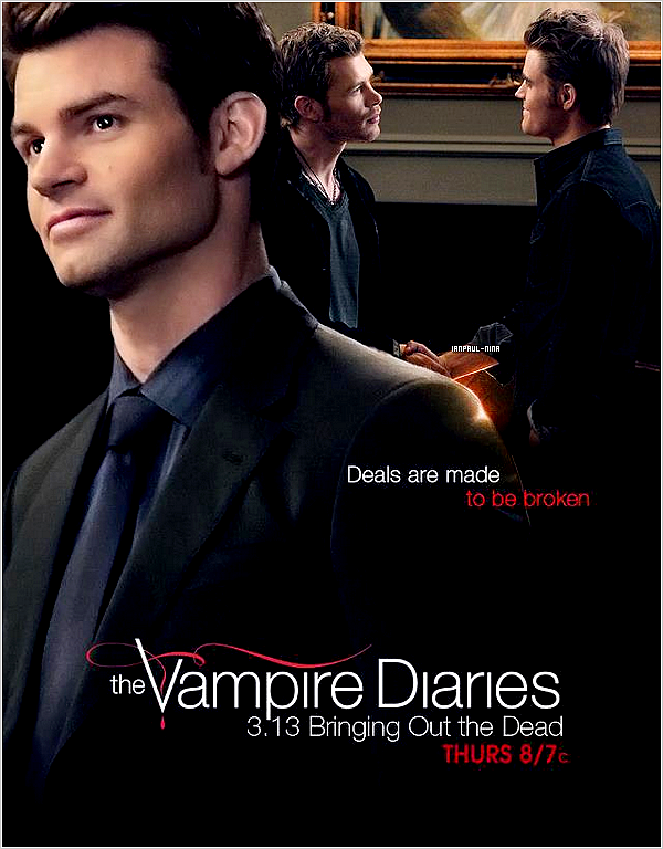 Découvrez un poster promo' pour l'épisode 3x13 intitulé : ''Bringing Out The Dead''.