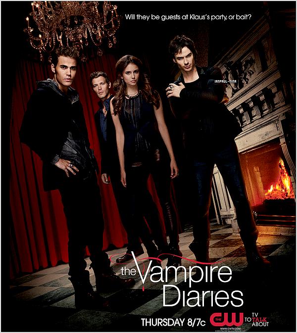 Découvrez de nouvelles photos promo' de la saison 3 de Vampire Diaries. Tu en penses quoi ?