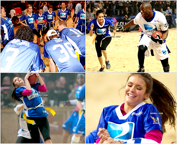04/02 : Nina et Candice ont participé au ''DirecTV 6th Annual Celebrity Beach Bowl'' à Indianapolis