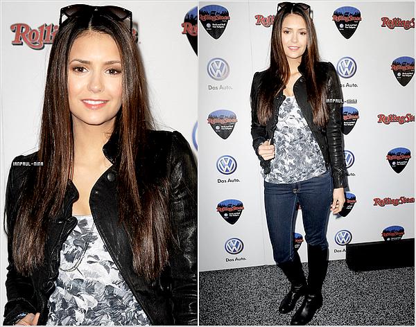 """04/02 : Le soir, Nina et Candice se sont rendu à une soirée organisé par """"Rolling Stone''."""