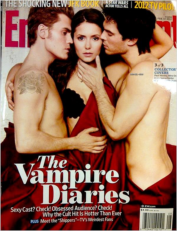 Découvrez Nina,Ian et Paul qui font la couverture du magazine Entertainment Weekly. Ton Avis?