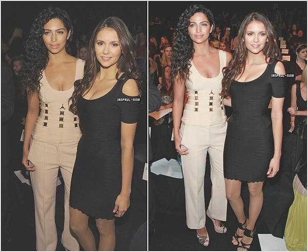 11/02 Nina a été aperçut au défilé Herve Leger organisé par ''Fashion Week by Max Azria'' à New York.