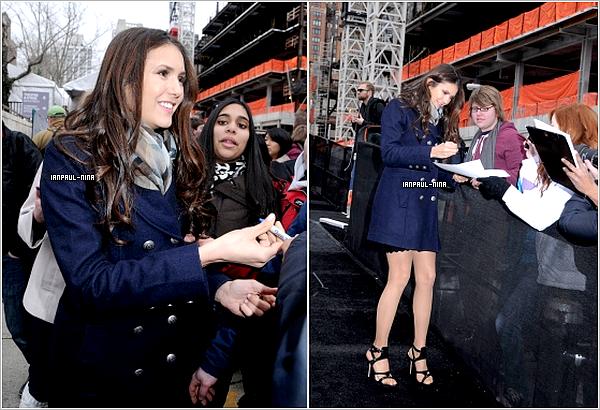 11/02 Nina était au defilé de Monique Lhuillier avec Camila Alves à Fashion Week 2012.        Top ou Flop ?