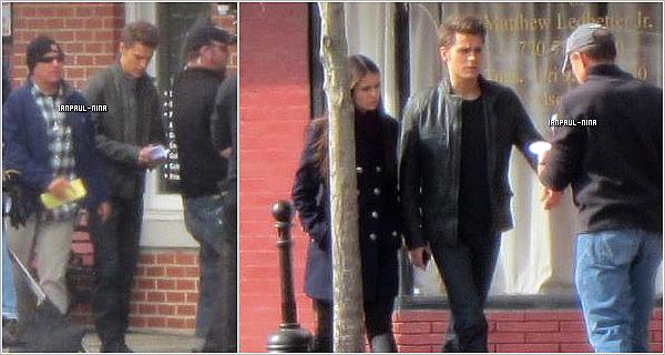 Découvrez des photos prises sur le set de Vampire Diaries où on peut voir Paul et Nina.