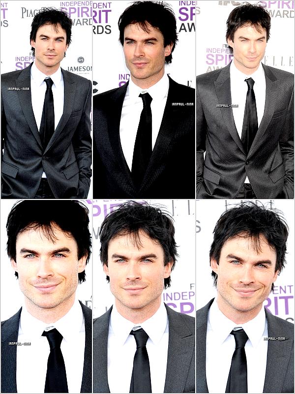 """25/02 Ian était présent à la cérémonie des """"Spirit Awards"""" à LA .  Top ou Flop ?"""