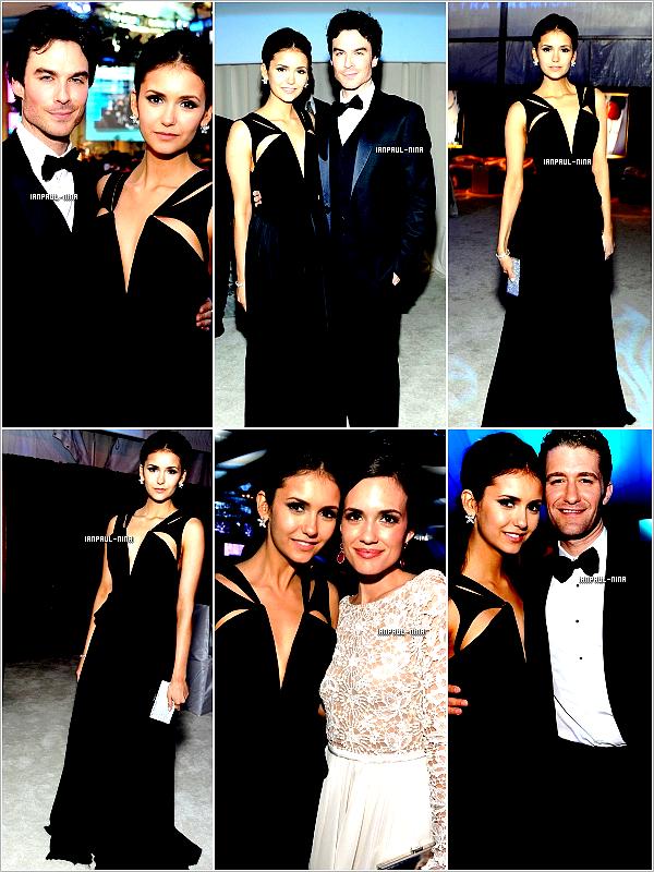 26/02 Nina et Ian étaient présents à la fête à l'occasion des Academy Awards (Oscars ) par la fondation Elton John Aids.