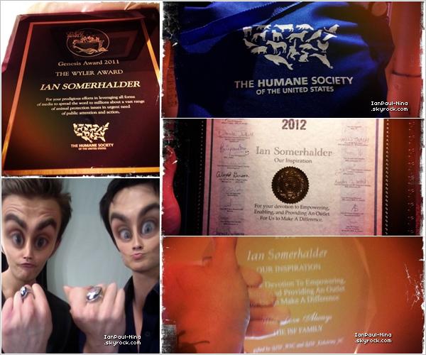 24/03 Ian était présent aux 26th Annual Genesis Awards où il a reçu un prix pour sa fondation.