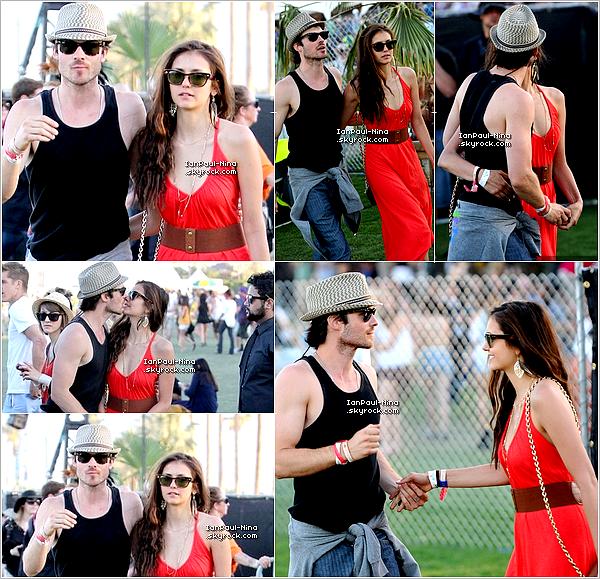 16/04 : Nina en compagnie de Ian étaient  au 3ème jour du festival musical Coachella.
